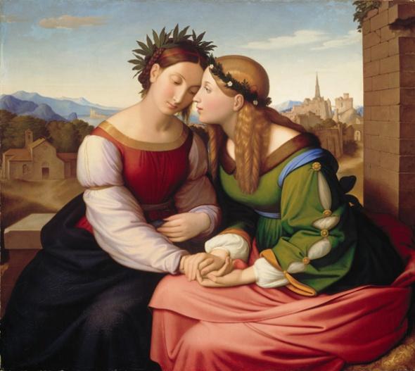 Italia-und-Germania-Johann Friedrich Overbeck