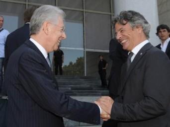 Mario Monti e Giuseppe Mussari