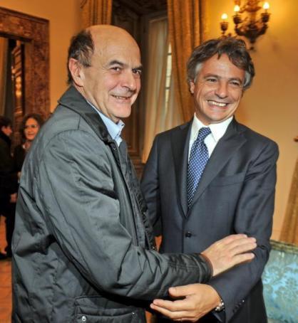 Pierluigi Bersani e Giuseppe Mussari