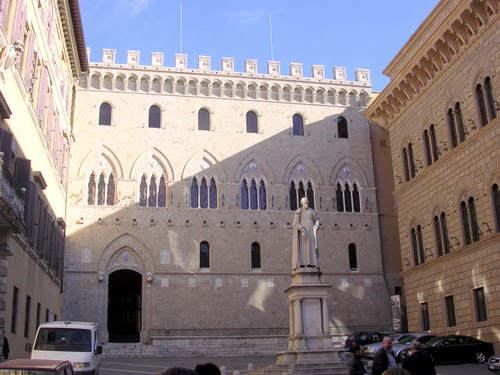 Siena-Palazzo Salimbeni, sede del MPS